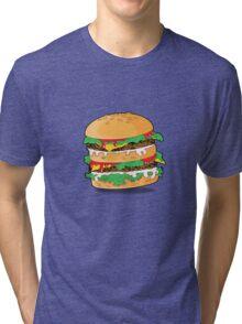 Cartoon Hamburger Tri-blend T-Shirt