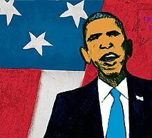 Obama the savior of USA by autrouvetout