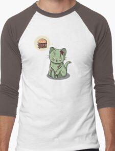 Zombie Cat Can Haz Brain Burger? Men's Baseball ¾ T-Shirt
