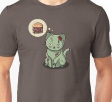 Zombie Cat Can Haz Brain Burger? Unisex T-Shirt