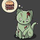 Zombie Cat Can Haz Brain Burger? by Stephanie Whitcomb