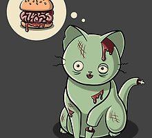 Zombie Cat Can Haz Brain Burger? by Stephanie Jayne Whitcomb