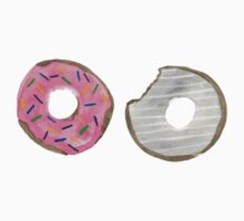 Watercolor Donuts One Piece - Short Sleeve
