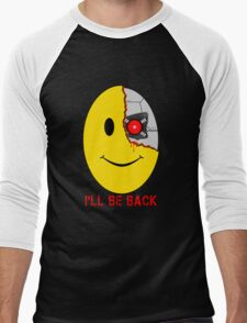 Terminator Smiley Face Men's Baseball ¾ T-Shirt