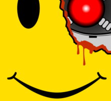 Terminator Smiley Face Sticker