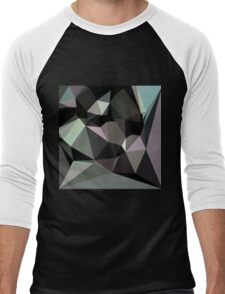 Black,abstract,polygonal,polygon,modern,contemporary,art Men's Baseball ¾ T-Shirt