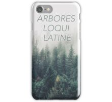 The trees speak latin - Raven boys iPhone Case/Skin