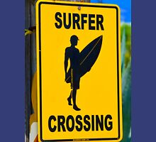 Surfer crossing Unisex T-Shirt