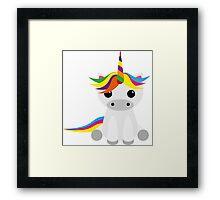 Graphic Unicorn Framed Print
