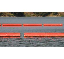Lake Barriers Photographic Print