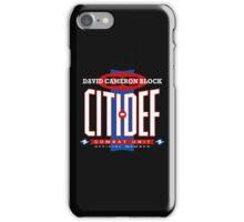 David Cameron Block Citi-Def  iPhone Case/Skin