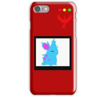 Team Valor Pokedex- With Nidoran on the screen iPhone Case/Skin