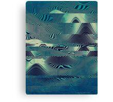 Waveforms: green,electric Op Art. VividScene  Canvas Print
