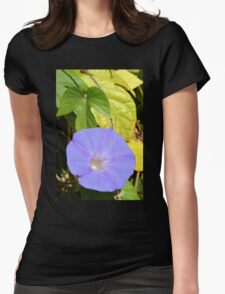 Purple Morning Glory Womens Fitted T-Shirt