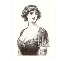 Beautiful Belle Epoque Lady Art Print
