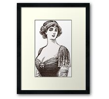 Beautiful Belle Epoque Lady Framed Print