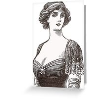 Beautiful Belle Epoque Lady Greeting Card