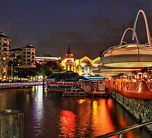 River Side at Clarke Quay - Singapore by Holger Mader