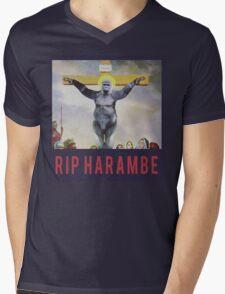 RIP Harambe - Son of God Mens V-Neck T-Shirt