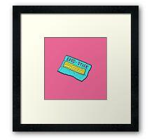 Sass-Stick Framed Print