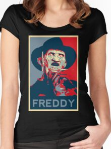 A Nightmare on Elm Street - Freddy Krueger Women's Fitted Scoop T-Shirt