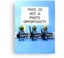 This is not a photo opportunity by Tim Constable Canvas Print