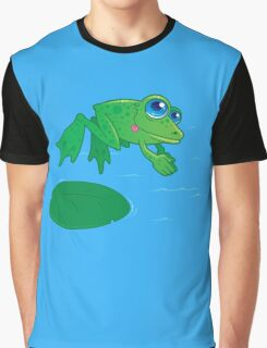 Diving Frog Graphic T-Shirt