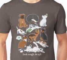 UnTough Dogs | Look Tough, Be Soft | Doberman Mastiff Great Dane German Shepherd Staffordshire Terrier Rottweiler Boxer Bull Terrier Bulldog Pit Bull No BSL Unisex T-Shirt