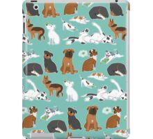 UnTough Dogs   Look Tough, Be Soft   Doberman Mastiff Great Dane German Shepherd Staffordshire Terrier Rottweiler Boxer Bull Terrier Bulldog Pit Bull No BSL iPad Case/Skin