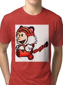 Super Calvin and Hobbes Tri-blend T-Shirt