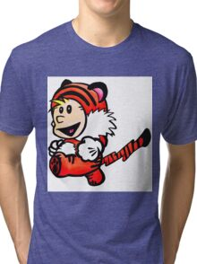 Super Calvin and Hobbes Tri-blend T-Shirt