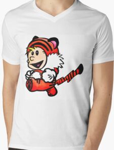 Super Calvin and Hobbes Mens V-Neck T-Shirt