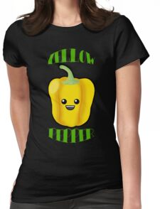 Yellow Pepper With Title or Words Womens Fitted T-Shirt