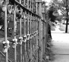 Wrought Iron Fence Sticker