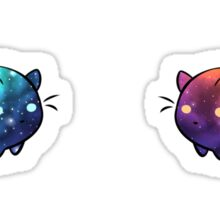 Galaxy Cat Blobs Sticker