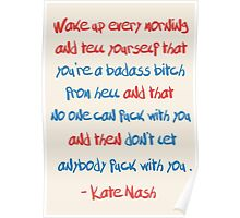 Kate Nashe's advice to college kids [and to people who have finished college or haven't been yet] Poster