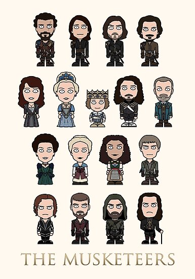 The Musketeers cast (poster/card/notebook) by redscharlach