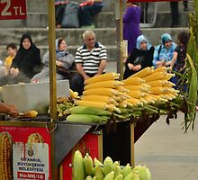 Istanbul Turkey, Fresh Cooked Sweetcorn by juliecmason