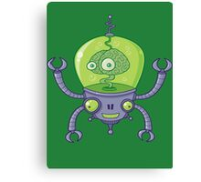 Brainbot Robot with Brain Canvas Print