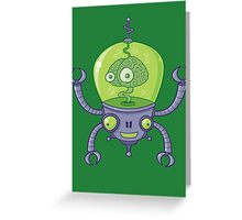 Brainbot Robot with Brain Greeting Card
