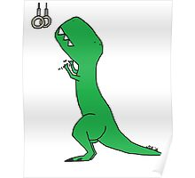 T-Rex Olympic Rings Poster