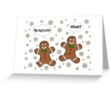 Christmas Gingerbread Men  Greeting Card