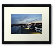 Views from the Pier Framed Print