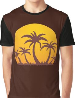 Palm Trees and Sun Graphic T-Shirt