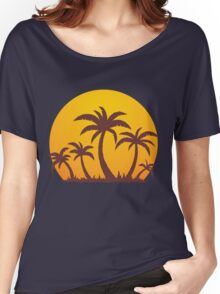 Palm Trees and Sun Women's Relaxed Fit T-Shirt