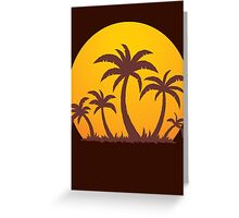 Palm Trees and Sun Greeting Card
