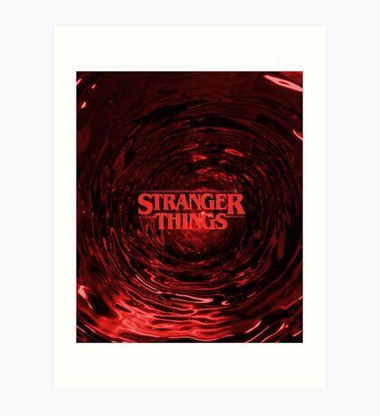 Stranger Things - Blood Art Print