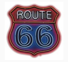Route 66 Neon sign One Piece - Short Sleeve