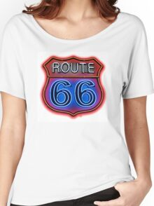 Route 66 Neon sign Women's Relaxed Fit T-Shirt