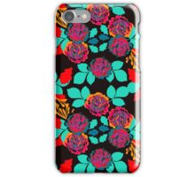 Black and Red Carnation Garden  iPhone Case/Skin